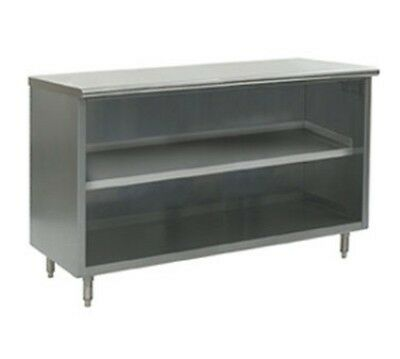 30 X 96 Stainless Steel Storage Dish Cabinet - Open Front