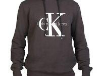 Mens Genuine Calvin Klein Hoodie Black Size Small Meidum New