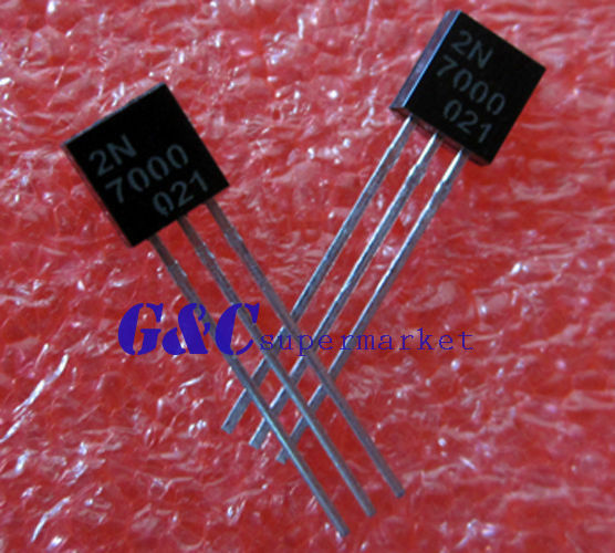 5PCS BS170 MOSFET N-CH 60V 500MA TO-92 FSC  NEW GOOD QUALITY TO1