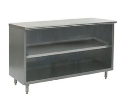 18 X 48 Stainless Steel Storage Dish Cabinet - Open Front