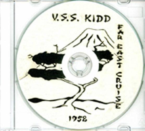 Пункты первоначального срока  USS Kidd DD 661 1958 Far East CRUISE BOOK Log CD