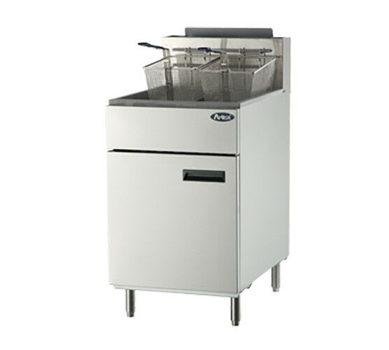 Atosa Atfs-75 Cookrite 75 Lb Heavy Duty Gas Fryer W/ 5 Burners