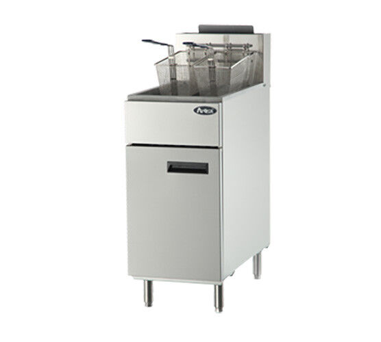 Atosa Atfs-50 Cookrite 50 Lb Heavy Duty Gas Fryer W/ 4 Burners