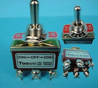 Momentary Dpdt On-off-on 3 Position 6pin Toggle Switch Ac 250v 15a
