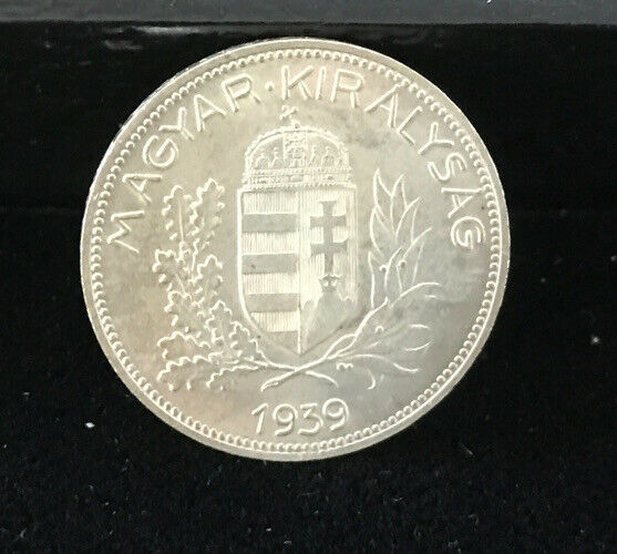 1939 Magyar Kiralysag Hungary 1 Pengo Silver Coin Uncirculated