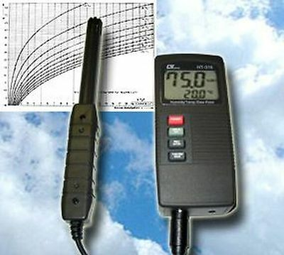 TOP DIGITAL THERMO HYGROMETER PSYCHROMETER TAUPUNKT MESSGERÄT T11
