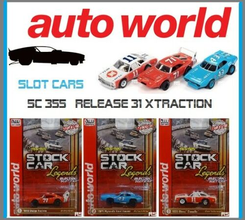 NEW Auto World 3 Stock Car Legends Petty, Yarborough & Isaac Also Runon Tomy AFX