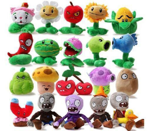 Купить Plants vs Zombies 2 PVZ Figures Plush Baby Staff Toy Stuffed Soft Doll 13cm-35cm