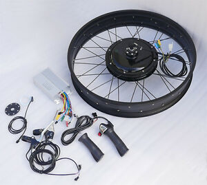 48v fat tire electric bike ebike conversion kit front hub for Fat bike front hub motor