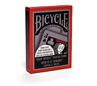 Tragic Royalty Deck Bicycle Playing Cards Poker Size USPCC Sealed Black Light