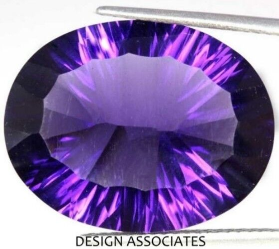 AFRICAN AMETHYST 10 x 8 MM OVAL CONCAVE CUT ALL NATURAL AAA