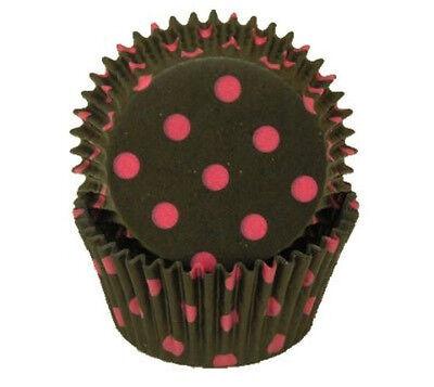 BLACK & HOT PINK POLKA DOTS - CUPCAKE LINERS - 50 Ct. -  Standard Size](Pink And Black Cupcake Liners)