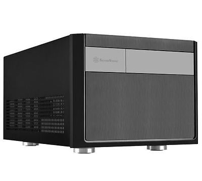 ABS Bazel 1*Slim ODD Mini-ITX SVST-ML08BH-Black steel body black internal