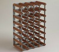 Wine Rack, Wood and metal industrial