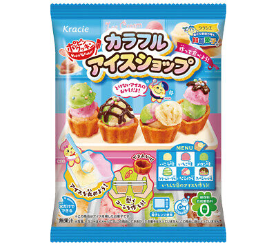 Kracie Popin' Cookin' Japanese Colourful Ice cream shop Kit 23g