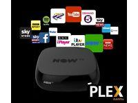 NOW TV BOX WITH PLEX!!