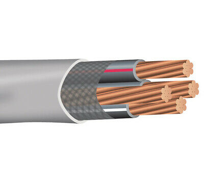 100 4-4-4-6 Stranded Copper Ser Wire Service Entrance Cable Gray 600v