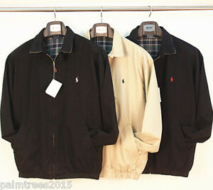 Polo-Ralph-Lauren-Pony-Mens-Vintage-Harrington-Black-Cream-Jacket-S-M-L-XL-XXL