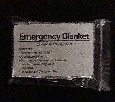 Emergency Solar Rescue Space Thermal Mylar Blanket 84 x 52  New Free Shipping