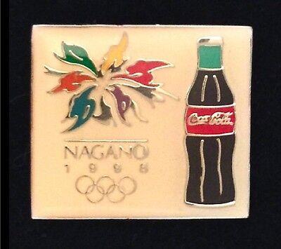 Nagano Olympic Pin Badge ~ Sponsor: Coca Cola ~ Coke Bottle ~ 1998 for sale  Juliette