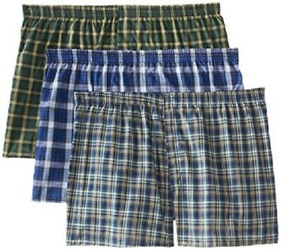 Mens Tartan Boxers - Fruit of the Loom Mens Tartan Boxer Shorts in Famous Brand Packaging Small to 5X