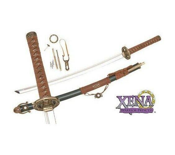 Xena Warrior Princess Replica Prop Marto Super Katana Sword Gabrielle Chakram...