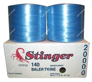 Bridon Stinger 140 Monofilament Round Bale / Baler Twine 20,000 ft