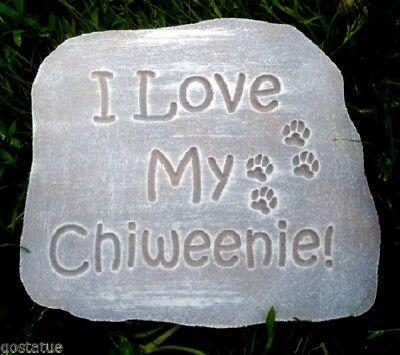 "Plaster Concrete dog Chiweenie  stepping stone  plastic mold 10.75 x 9.5"""
