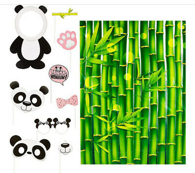 Panda Bear Party Decorations (PANDA BEAR BAMBOO Scene Setter Birthday Party backdrop w/9 photo booth)