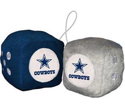 Dallas Cowboys Fuzzy Dice NFL Football Team Logo Plush Car Truck -