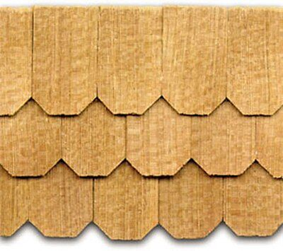 Dollhouse Roofing Hand Split Cedar Hex Shingles 140 Pcs 1  Scale  Cla70255