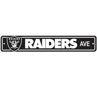 Oakland Raiders Ave Street Sign 4