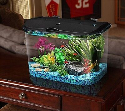 5 Gallon Big Fish Aquarium Kit LED Light Filter Starter Water Tank Lighting New
