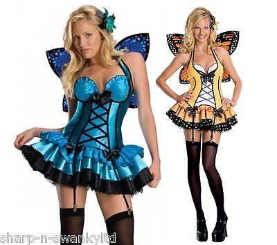 Damen Sexy Fee Schmetterling Tier mit Flügeln Nymphe - Nymphe Kostüme Flügel