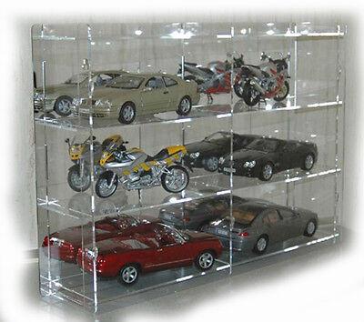 sudu® Vitrine Setzkasten Schaukasten Acrylglas für Modellautos 1:18
