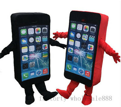 Mobile advertising Cell Phone Mascot Costume suits Cosplay Dress Adults Size - Cell Phone Costume