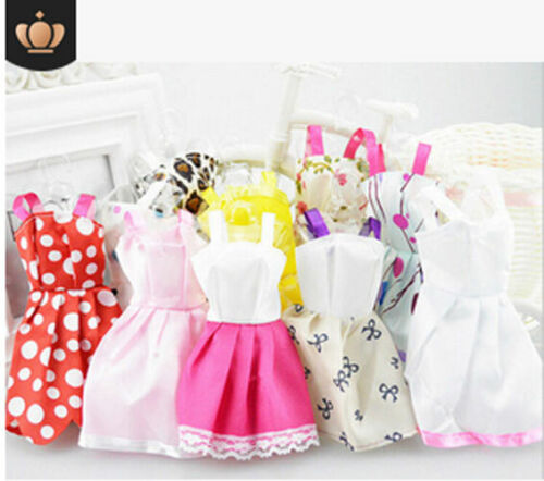 10 Pcs Dresses for Barbie Doll Fashion Party Girl Dresses Clothes Gown Toy Gift. - 8