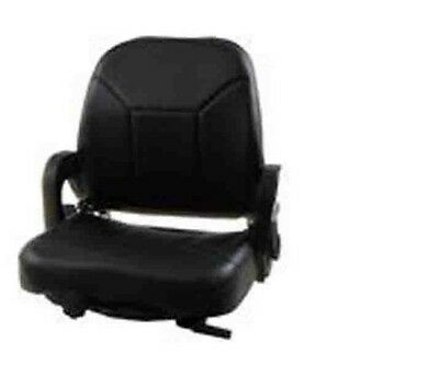 Suspension Forklift Seat For Nissan Vinyl Hip Restraints.