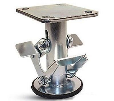 Caster Barn - 8 Inch Floor Lock - Fl80117 - 4 X 4-12 Top Plate - 9-58 - 8-5