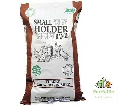 20KG ALLEN & PAGE SMALL HOLDER RANGE TURKEY GROWER / FINISHER  FOOD PELLETS FEED
