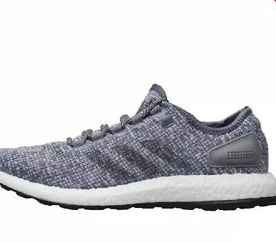 Adidas Pure Boost PureBoost Running Shoes Trainers * UK 8 * Grey * New In Box