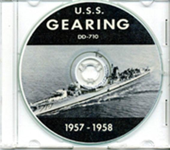 USS Gearing DD 710 1957 - 1958 CRUISE BOOK CD US Navy