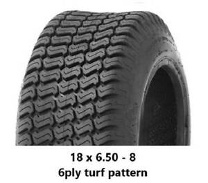 """18 X 6.50 - 8"""" TURF TYRES 6PLY - RIDE ON MOWERS/MINIDIGGERS/TRAILERS Midvale Mundaring Area Preview"""