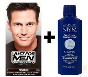 Just-FOR-MEN-UOMO-SHAMPOO-COLORANTE-COLORE-TINTA-PER-CAPELLI-VERI-Nero-h55-Nisim-Shampoo