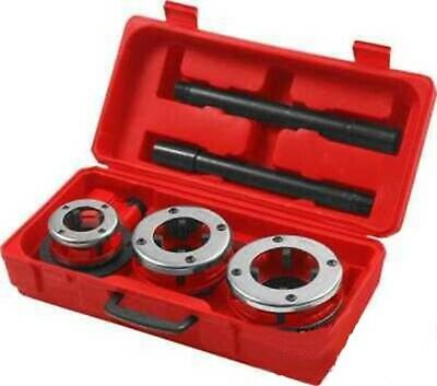 Large Hand Die Ratcheting Pipe Thread Threader Tool Ratchet Threading Kit Set