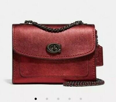 New Coach Leather Parker 18 Bag Chain Strap RRP £250