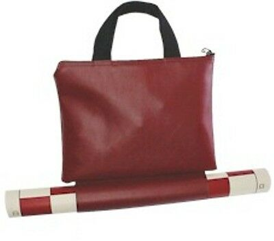 Tournament Chess SET 2 extra Queens Vinyl Board Bag in RED c