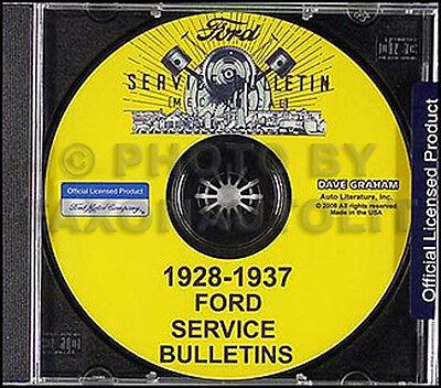 Car Service Manual - Ford Model A Service Bulletins Repair Manual CD 1928 1929 1930 1931 Car AA Truck