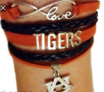 AUBURN TIGERS TEAM BRACELET, NCAA College Bracelet, Football, Basket Ball Auburn Tigers College Basketball