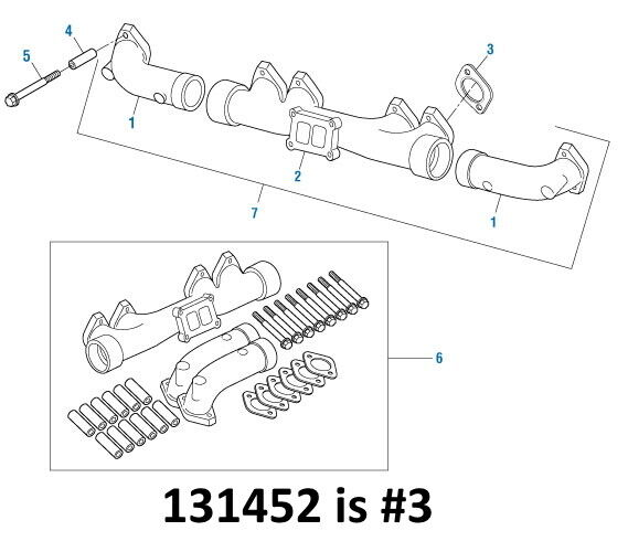 Exhaust Manifold Gasket for Cummins L10 M11 ISM. Qty. 1